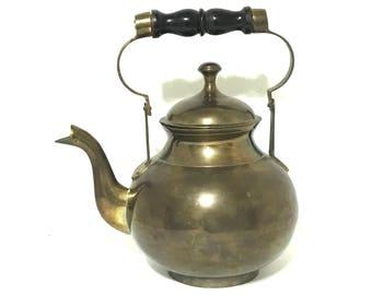Vintage Brass Tea Kettle Brass Footed Tea Kettle Brass Teapot Brass Tea Pot Brass Kettle Footed Teapot Footed Tea Pot Brass Kitchen Decor