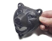 Black Cast Iron Bear Bottle Opener Rustic Decor Cabin or Lodge Decor Man Cave Bar