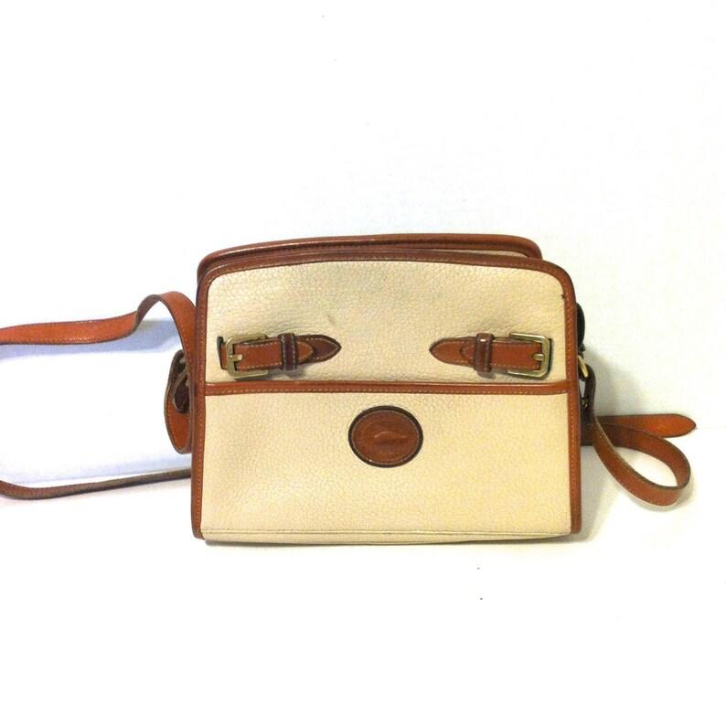 Vintage Dooney And Bourke Dooney Cream Handbag Designer  eed11e727889f