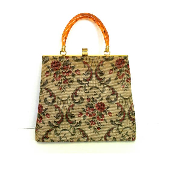Vintage Carpet Bag Mid Century Boho Carpet Bag Fra