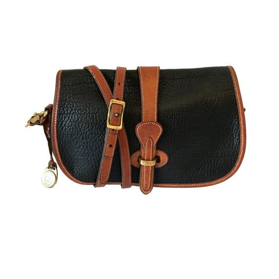 Vintage Dooney And Bourke Handbag Dooney And Bourke Black And  9f68c863cb733