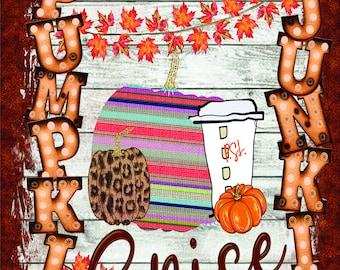 Pumpkin Spice Junkie Sign