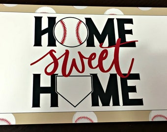 Baseball sign for wreath, Home Sweet Home wreath sign, Baseball sign, Sports sign, Wreath sign