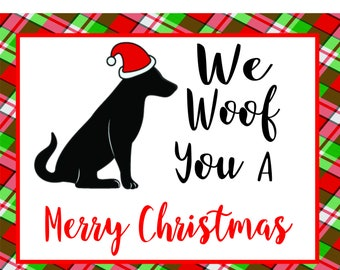 We Woof You A Merry Christmas, Sign by Hard Working Mom