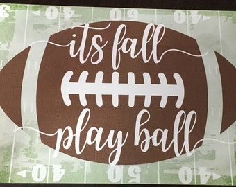 Football sign for wreath, It's Fall Play Ball wreath sign, Football sign, Sports sign, Wreath sign, Fall Play Ball Sign