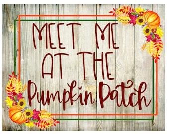 Meet Me At The Pumpkin Patch, Wreath Sign, DesignsbyHWM