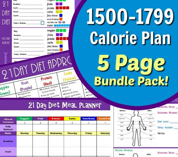 graphic relating to 21 Day Fix Tally Sheets Printable named 21 Working day Eating plan Custom made 1500-1799 Energy 5 Webpage Package deal Offer with Container Tally Sheets, Evening meal Planner, Good results Tracker and Food items Checklist