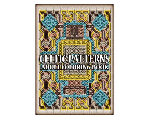 10 Celtic Patterns Coloring Pages Printable Adult Coloring Etsy