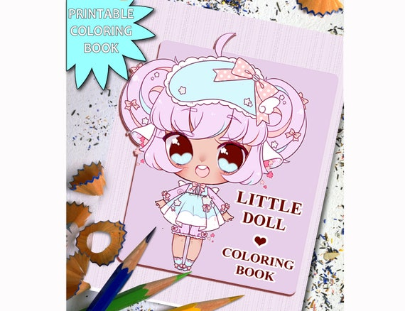 Little Doll Coloring Book Printable Adult Coloring Book Page   Etsy