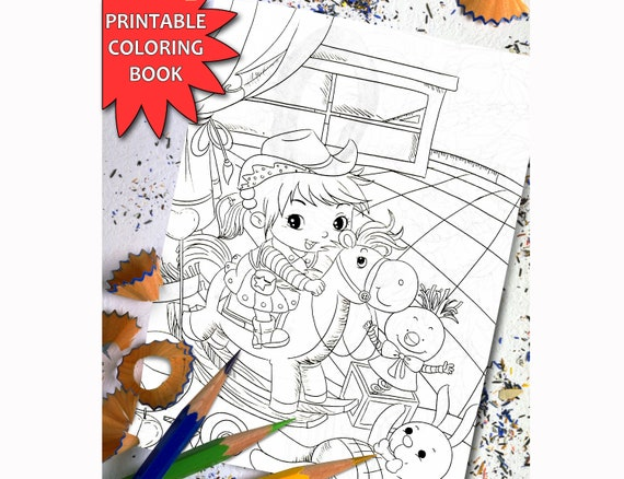 Funny Kids Coloring Book for Adults, Printable Coloring Book For Adults,  Coloring Page, Download Printable Coloring Pages