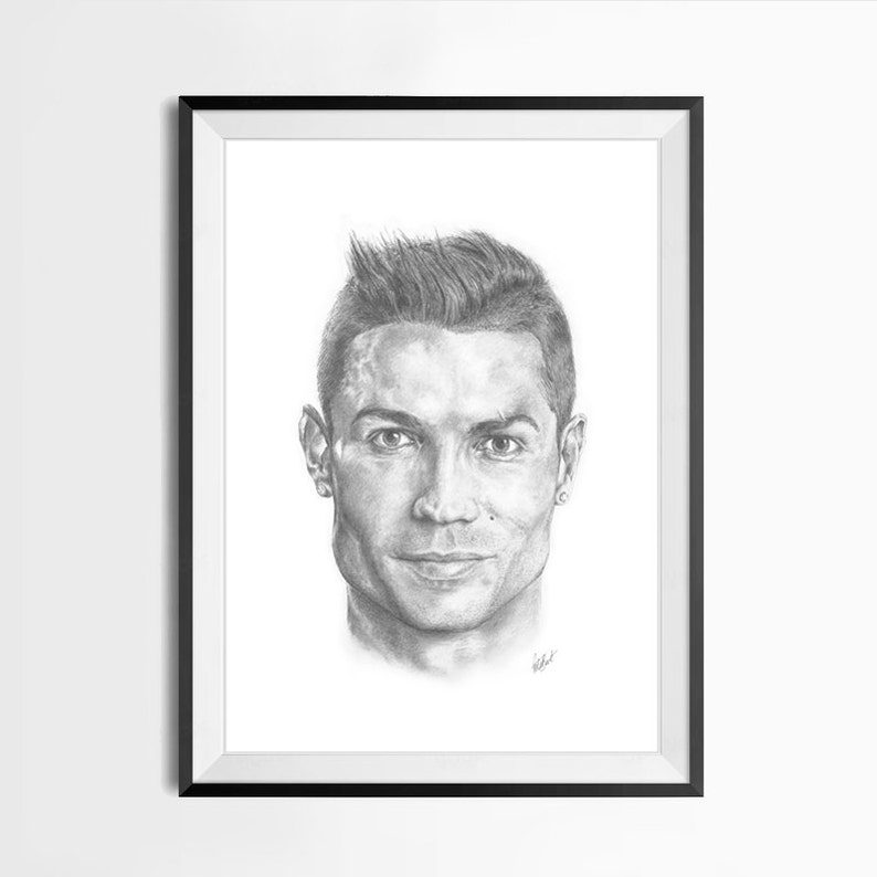 Ritratto Di Cristiano Ronaldo Etsy