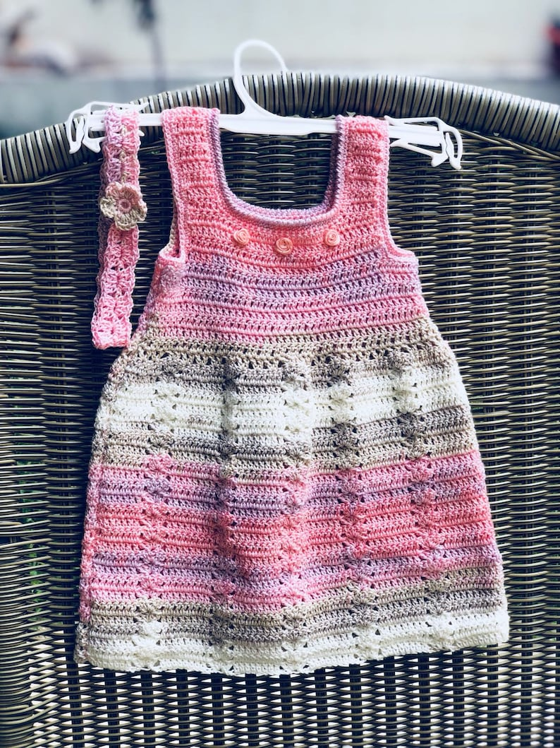 6e8ec1327c077 Crocheted baby dress, pink baby dress, 3-6 months old baby dress, handamde  baby dress, baby shower gift, crocheted baby clothes,