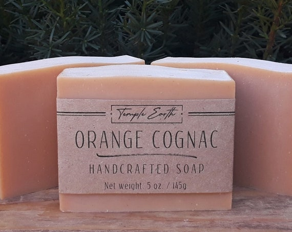 Orange Cognac Soap with Coca Butter (5 oz.) - Handcrafted Organic Soap