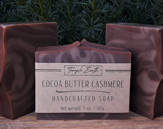 Cocoa Butter Cashmere Soap with Cocoa Butter (5 oz.) - Handcrafted Organic Soap