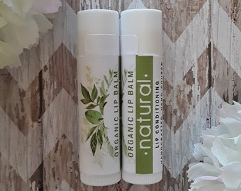Natural Lip Balm - Organic- Condition/Nourish/Hydrate - Awesome gifts and favors!