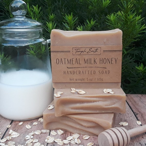 Oatmeal Milk & Honey Handcrafted Soap - All Natural Soap made with Buttermilk, Honey, and Oats