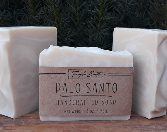 Palo Santo Soap with Cocoa Butter (5 oz.) - Handcrafted Organic Soap