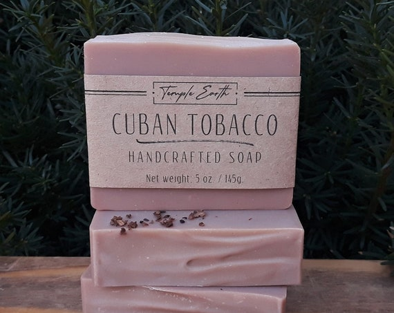Cuban Tobacco Soap with Cocoa Butter (5 oz.) - Handcrafted Organic Soap
