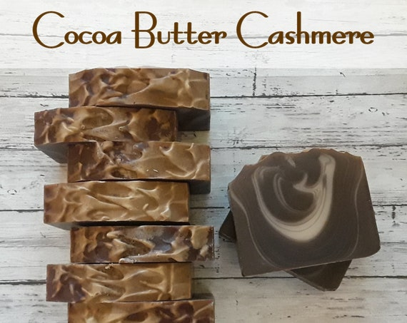 Cocoa Butter Cashmere Handcrafted Soap (5 oz.) Made with Shea Butter