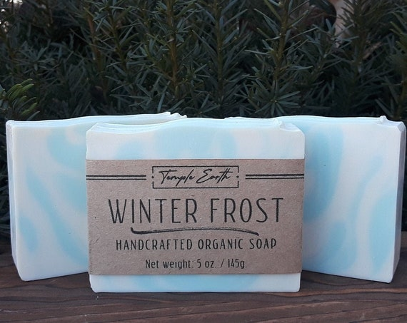 Winter Frost Soap with Cocoa Butter (5 oz.) - Handcrafted Organic Soap