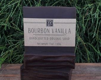 Bourbon Vanilla Soap with Cocoa Butter (5 oz.) - Handcrafted Organic Soap