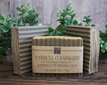 Cypress Cedarwood Soap with Cocoa Butter (5 oz.) - Handcrafted Organic Soap