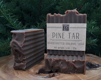 Old-Fashioned Pine Tar Soap (4 oz.) - Handcrafted Organic Soap