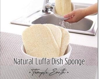 Natural Luffa Dish Sponge - Organic / Eco-friendly / Gentle / Reusable / Biodegradable Dish Scrubber