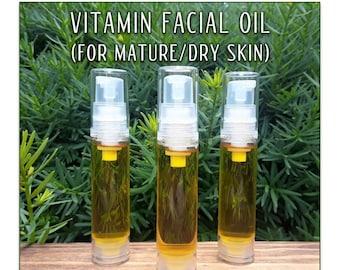 Vitamin Facial Oil for Mature Skin - Antioxidant rich