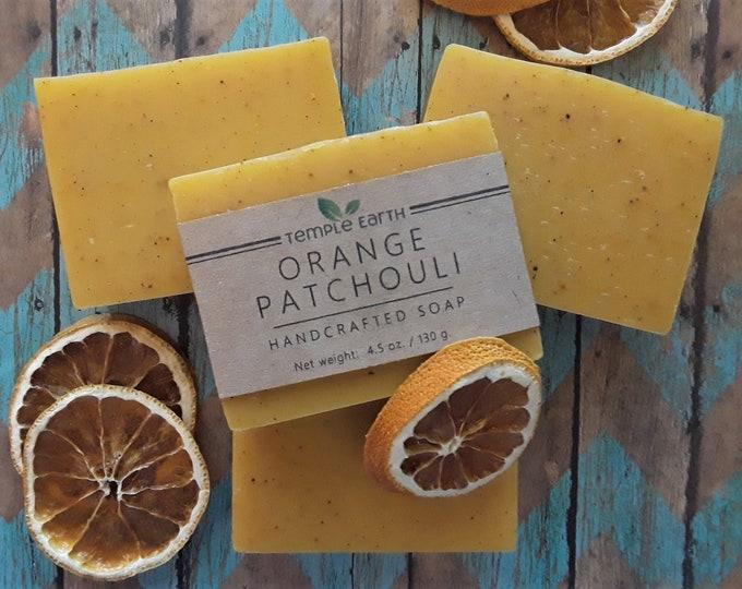 Orange Patchouli Handcrafted Soap - Natural & Vegan (4.5 oz. / 130g.)