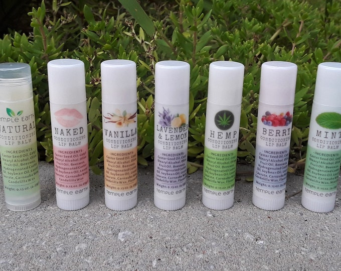 Flavored Lip Balm (Over 40 Flavors!) Lightly Tinted - Condition/Nourish/Hydrate - Awesome Stocking Stuffers!