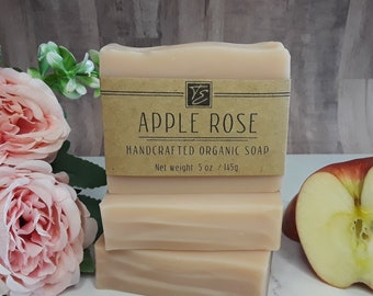 Apple Rose Soap with Cocoa Butter (5 oz.) - Handcrafted Organic Soap