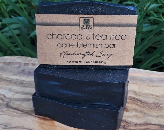 Charcoal & Tea Tree Blemish Bar for Oily Skin - 19 Key Ingredients for Oily Skin!!
