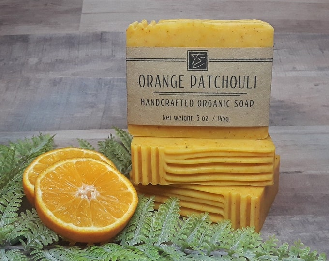 Featured listing image: Orange Patchouli Soap with Cocoa Butter (5 oz.) - Handcrafted Organic Soap