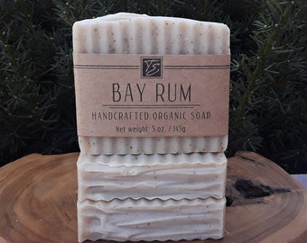 Bay Rum Soap with Cocoa Butter (5 oz.) - Handcrafted Organic Soap