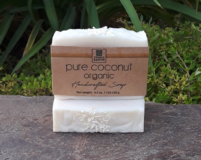 Pure Coconut Unscented Handcrafted Soap - Organic & Vegan (SAMPLE SIZE AVAILABLE)