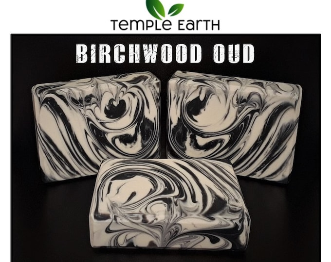 Birchwood Oud Handcrafted Soap (4.5 oz.) - Men's Favorite! Natural Organic Body Bar