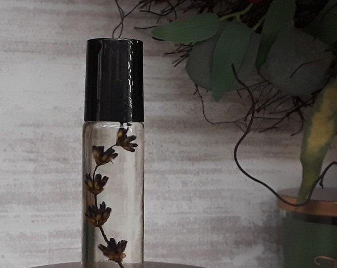Botanical Lavender Perfume Roller (10mL) - Aromatherapy Roller with Jojoba & Lavender Buds