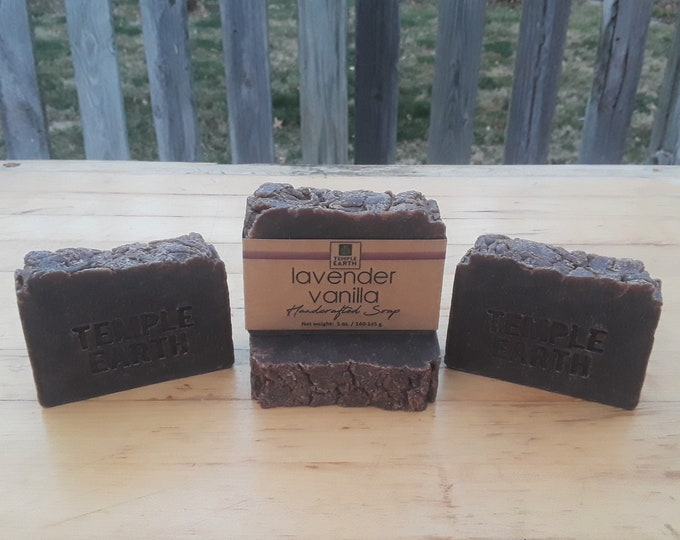 Lavender Vanilla Handcrafted Soap (5 oz.) - Natural & Vegan Soap Bar - Gifts for Her