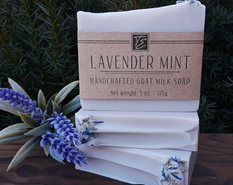 Lavender Mint GOAT MILK Soap (5 oz.) - Organic Soap made with Goat Milk