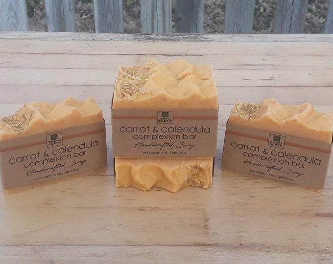Carrot & Calendula Complexion Soap - 5 oz. Facial Bar - Natural Macerated Carrot Oil