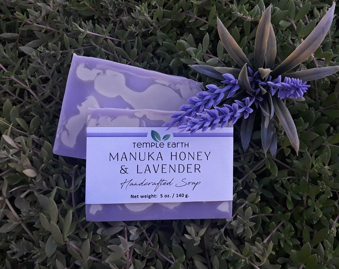 Manuka Lavender Handcrafted Spa Soap (5 oz) Made with Real Manuka Honey!