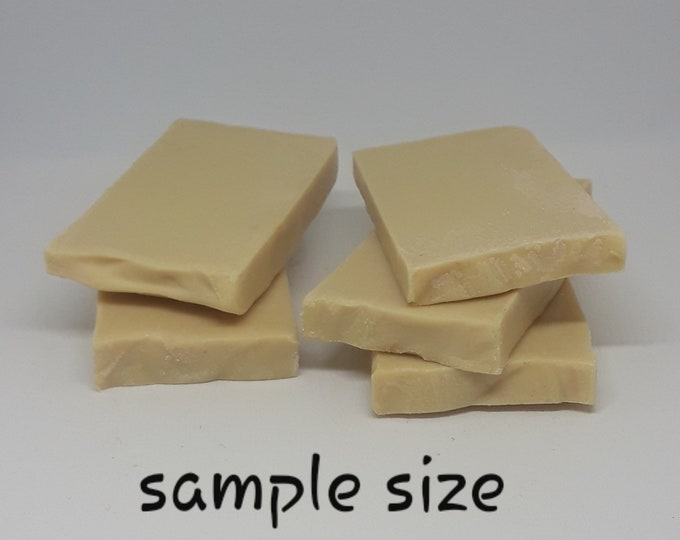 Goat's Milk Handcrafted Soap, Ginger & Patchouli (SAMPLE SIZE) - Naturally Loaded with Vitamins and Minerals!