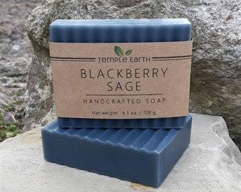Blackberry Sage Handcrafted Soap - Natural Organic & Vegan
