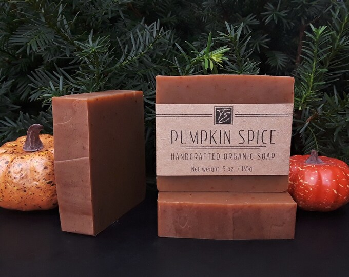 Featured listing image: Pumpkin Spice Soap with Cocoa Butter (5 oz.) - Handcrafted Organic Soap