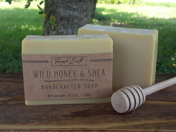 Wild Honey & Shea Handcrafted Soap (4.5 oz.) - Cold Process