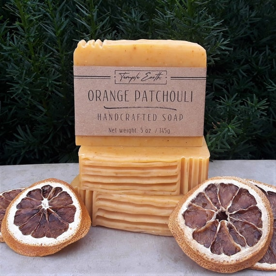 Orange Patchouli Soap with Cocoa Butter (5 oz.) - Handcrafted Organic Soap