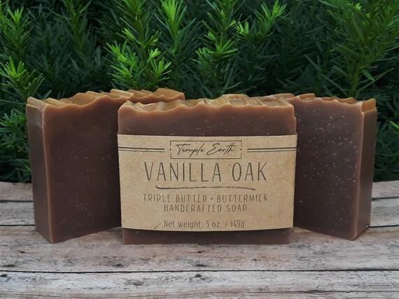 Vanilla Oak Handcrafted Soap (5 oz.) - Triple Butter + Buttermilk Soap