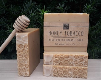 Honey Tobacco Soap with Cocoa Butter (5 oz.) - Handcrafted Organic Soap