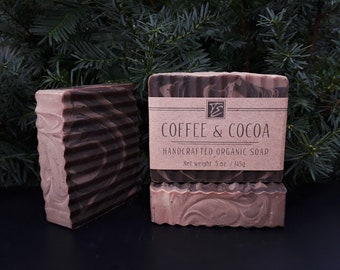 Coffee & Cocoa Soap with Cocoa Butter (5 oz.) - Handcrafted Organic Soap